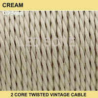 Vintage Color 2 core twist braided fabric cable flex wire electric light 0.75mm