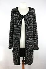 Maje Women's Metallic Cardigan Memory Knit Boucle Cardigan Size 2