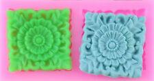 Square Lace Design 2 Cavity Silicone Mold for Fondant, GP, Chocolate, Crafts