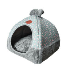 Pet Nest Warm Closed Puppy Cat Dog Kennel House Foldable Sleeping Cushion Tent