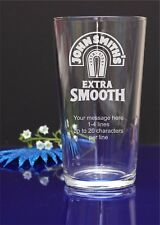 Personalised engraved John Smith's pint glass.Birthday,Christmas gift 46