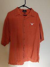University of Texas/UT Longhorns/Antigua burnt orange short sleeve shirt size L