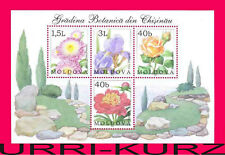 MOLDOVA 2002 Nature Flora Plants Flowers Aster Iris Rose Peony Botanical Garden