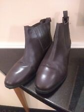 ASOS  Flat Leather Chelsea Boots - Brown - Size 6 FREE SHIPPING