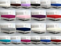 Fitted Sheets Luxury Percale Deep Bed Sheet Single Double King Super King Size