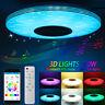 Dimmbar LED RGBW 3D Effekt Deckenleuchte bluetooth Lautsprecher Lampe APP Remote
