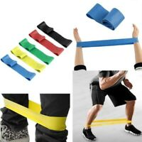 Elastic Resistance Loop Bands For Gym Yoga Pilates Abs Exercise Workout Fitness^