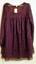 Women's Purple, Lace Top with Empire Line and Gathered Bottom -  Size 3XL or 22