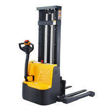 """New listing Sovans Electric Walkie Straddle Pallet Stacker Lift Height 98"""" 2200lbs Capacity"""