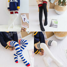 Women Novelty Over Knee Thick Fluffy Striped Socks Warm Soft Gift Christmas Sock
