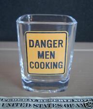 DANGER MEN COOKING ANDE ROONEY HEAVY SQUARE SHOT GLASS
