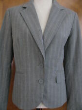 New York&Co Women's Stretch Gray Striped Blazer Size 12 NWT