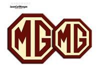 MG TF 2009 Onward New Badge Inserts Front Rear 70mm & 90mm Burgundy Cream Badges
