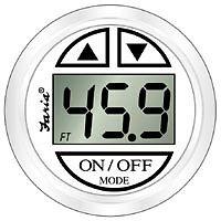 Faria Boat Depth Finder/Sounder/Transducer & Dress White Gauge FAR 13151