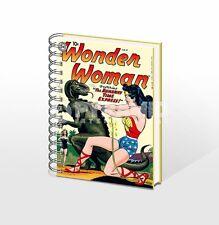 DC Wonder Woman dal gusto retro copertina rigida con anelli legati A5 NOTEBOOK nuovo foderato