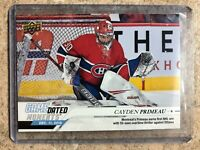 19-20 UD Upper Deck Game Dated Moments Rookie #27 CAYDEN PRIMEAU RC 1st WIN