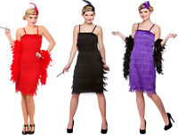 JAZZY CHARLESTON GATSBY 1920s 20s FRINGED FLAPPER LADIES FANCY DRESS COSTUME