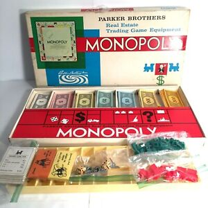 MONOPOLY Board Game 1961 Parker Brothers 100% Complete VINTAGE Classic Finance