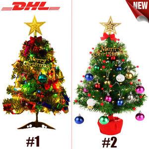 50CM  Künstlicher Weihnachtsbaum Tannenbaum LED beleuchtet geschmückt Christbaum