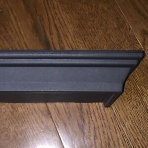 """1 Floating Shelf Black Small w/ Screws & Wall Anchors 8.6 x 4"""" Holds Up To 5 lbs"""