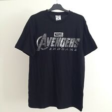 Avengers Endgame men's t-shirt Size S black & silver Marvel movies Primark