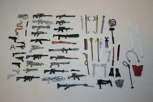 "GI JOE HUGE LOT Vintage 3 3/4"" Original Weapons Guns Cobra Accessories 25th POC"