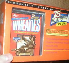 WHEATIES 75TH ANNIVERSARY 24K GOLD JACKIE ROBINSON  MINI BOX COLLECTION SERIES,