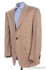 BIJAN Brown Herringbone Check 100% CASHMERE Mens Blazer Sport Coat Jacket - 42 R