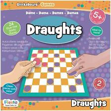 Fiesta Crafts STICKABOUTS GAME - DRAUGHTS Reusable Sticker Toy BN