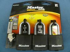 New Master Lock M115xtrilf Mag1 34 Cov Lck15 3pk With 2 Keys P17151