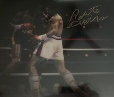 Roberto Duran Signed 16x20 Photo Beckett BGS