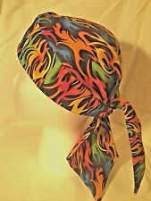 MULTI-COLOR FLAME DOO RAG sdskullwear1