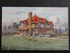 Merseyside PORT SUNLIGHT Mens Social Club & Bowling Green - Old Postcard