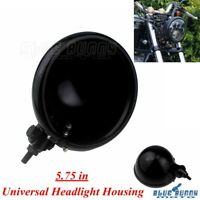 Motorcycle 5.75 in LED Round Headlight Shell Bucket Housing For Harley Touring