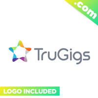 TruGigs.com - Cool domain for sale! Godaddy PREMIUM TWO WORDS Gigs Freelancing