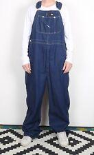 DICKIES Dungarees Large Blue Denim  W36 W38 L32 TALL LENGTH (74F)