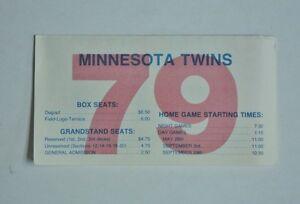 1979 MLB Minnesota Twins Complete Baseball Schedule - FLASH SALE