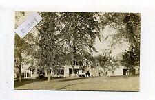 PM Bridgewater MA Mass RPPC real photo 1907 family & dog outside home