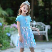 2019 New Release Girls Frozen 2 Elsa Costume Sparkling Tutu Dress size 2-10 Yrs