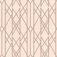 Rasch Portefeuille Linéaire Papier Peint Géométrique Rose/Doré Rose 215106