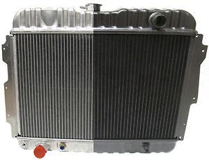 "1966-72 Mopar B & E Body Black Aluminum 26"" Radiator Roadrunner Challenger Cuda"