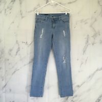 Kut From The Kloth Woman's Size 4 Catherine Boyfriend Jeans Distressed Mid Rise