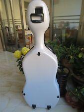Full size 4/4 composite Carbon fiber Cello Case in white color,Free Shipping