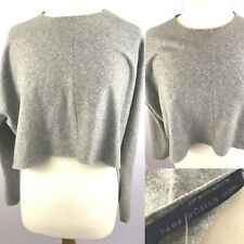 Gorgeous Zara Womens Cropped Jumper Sweater M Ladies Long Sleeved Zip Casual