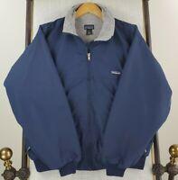 Rare VTG 1999 PATAGONIA Small Made in USA Mens Nylon Blue Bomber Jacket Coat