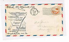 USA Erstflug Brief Pennsylvania ab Lancaster mit Original Unterschriften