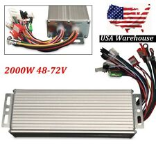 2000W 48-72V DC Brushless Electric Motor Speed Controller Bicycle E-bike Scooter