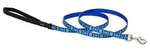 "Lupine Dog Leash Lead 1/2"" SEA GLASS 4 Ft Blue Green Aqua Purple New USA"