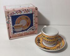 "Mary Engelbreit Tea Cup Saucer ""Time for Tea"" Everyone Needs Their Own Spot Dogs"