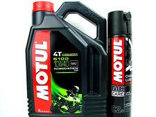 4 Litros Aceite PARA MOTOS 10w40 Motul 5100 10w-40 4-takt + CHAINSPRAY C2+400ml